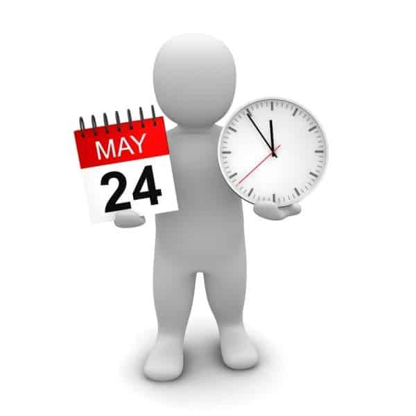 3d man calendar clock