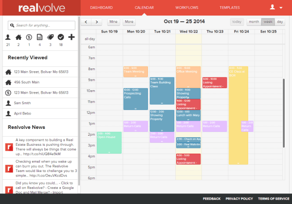 Realvolve Calendar