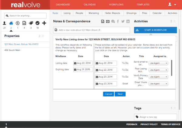 Realvolve Workflow-start2