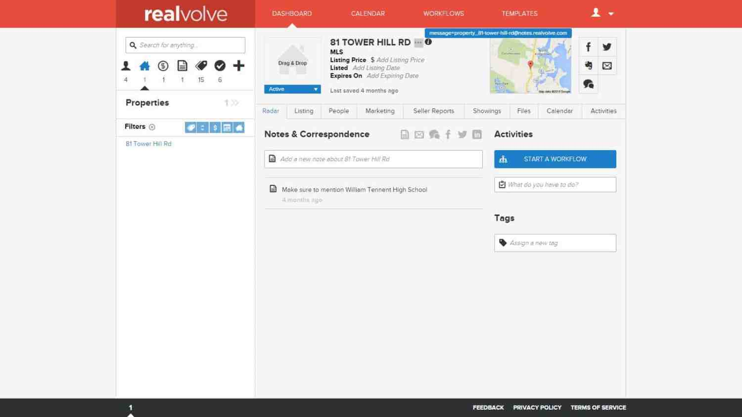 Realvolve Email Storage 1