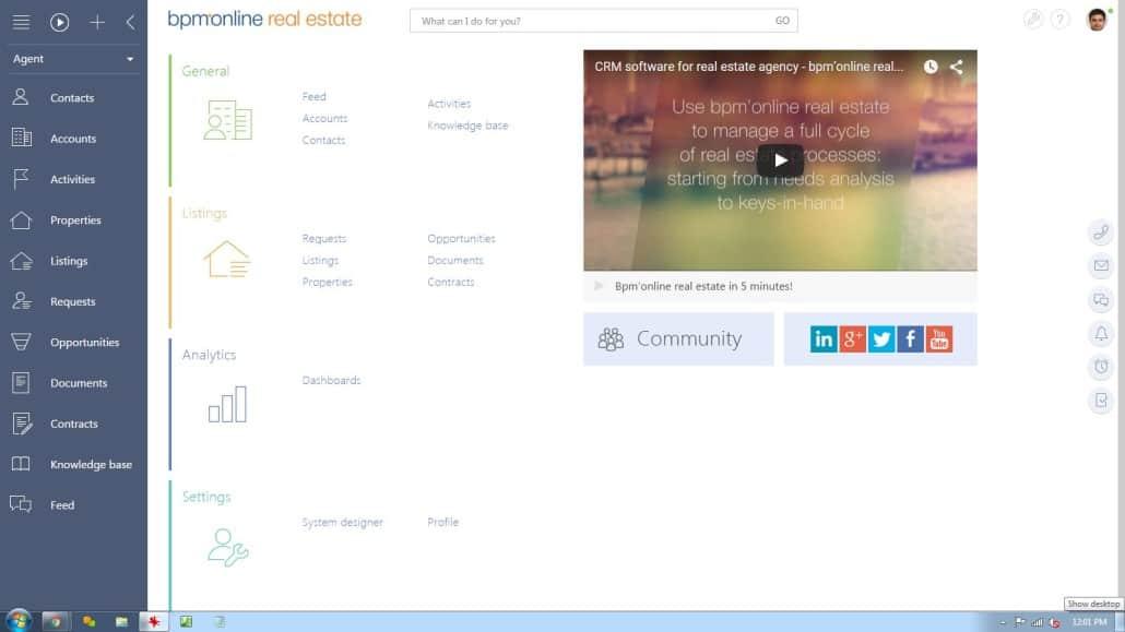 BPM'online Desktop-text