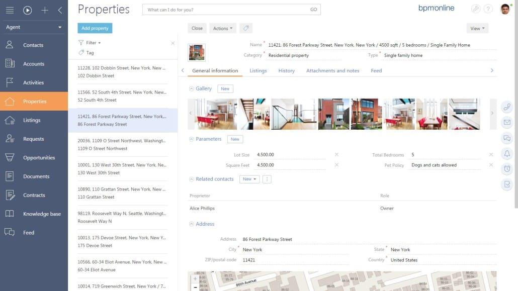 bpm'online properties 2