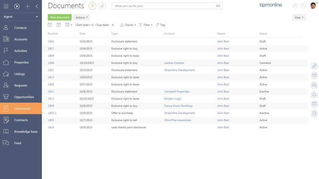 bpm'online documents
