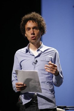 Malcolm Gladwell speaks at PopTech! 2008 conference. Photo courtesy Kris Krüg via Wikimedia Commons