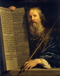 Moses with the Ten Commandments (Philippe de Champaigne, 1648, Hermitage Museum, Saint Petersburg, Russia)