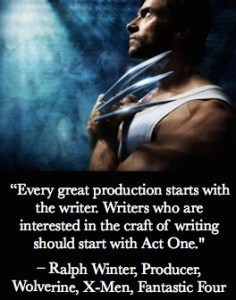 Ralph Winter Act One Quote