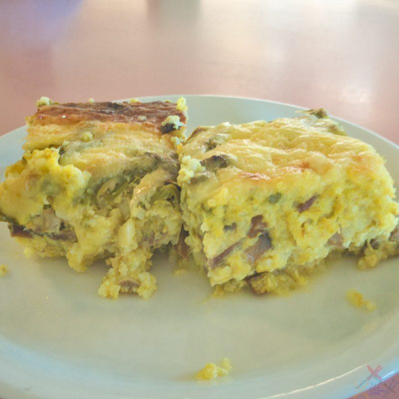 Rice, egg, aspargus, mushroom, and cheese slice Gary Lum