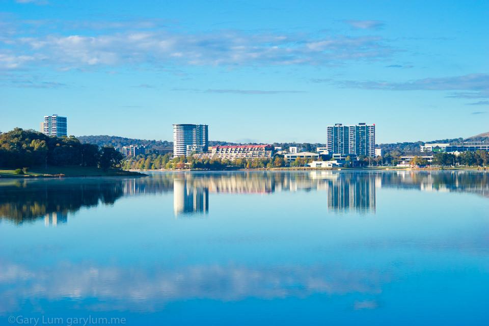 Lake Ginninderra reflections Gary Lum