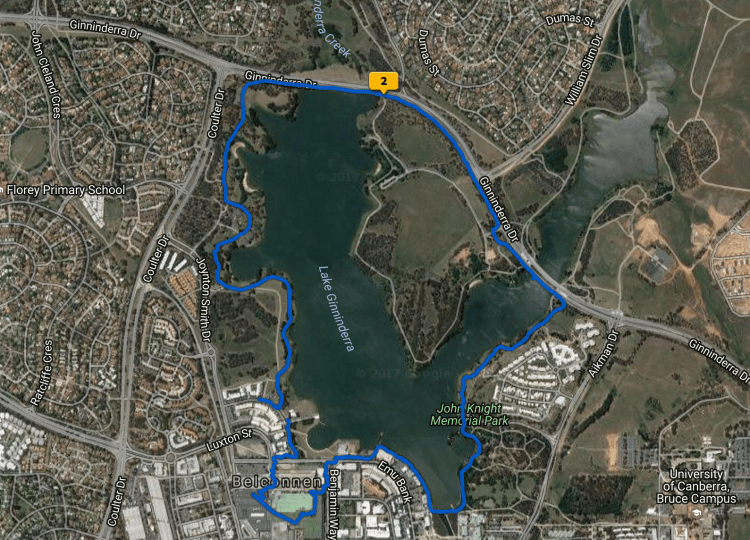 Screenshot Lake Ginninderra map Gary Lum carp
