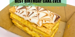 Gumnut patisserie Birthday Vanilla Slice from Kaitlyn for my 52nd birthday Gary Lum