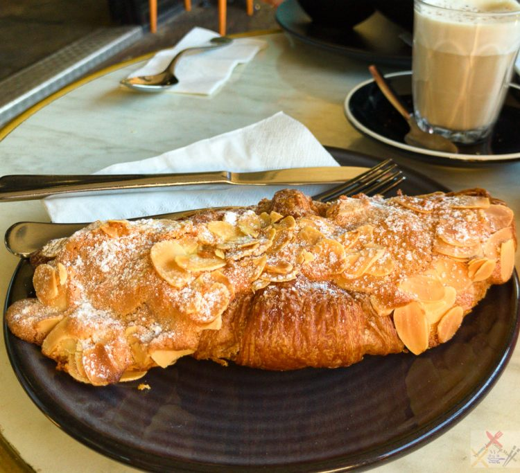 Toasted almond custard croissant from Bang and Grind