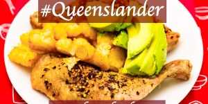 #footyfood #origin Chicken Maryland, potato gems and avocado #qlder Gary Lum