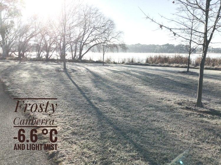 Frost on the grass near Lake Ginninderra Gary Lum frosty reflections