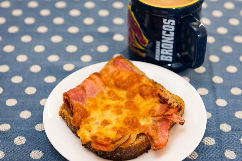 Bacon and cheese sandwich with coffee Gary Lum