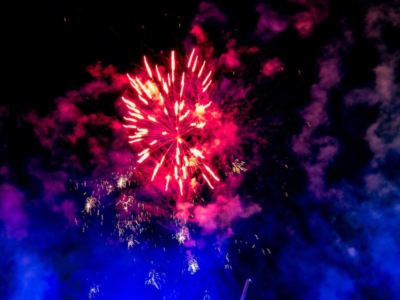 Fireworks at EkkaNites at The Ekka 2017 Gary Lum