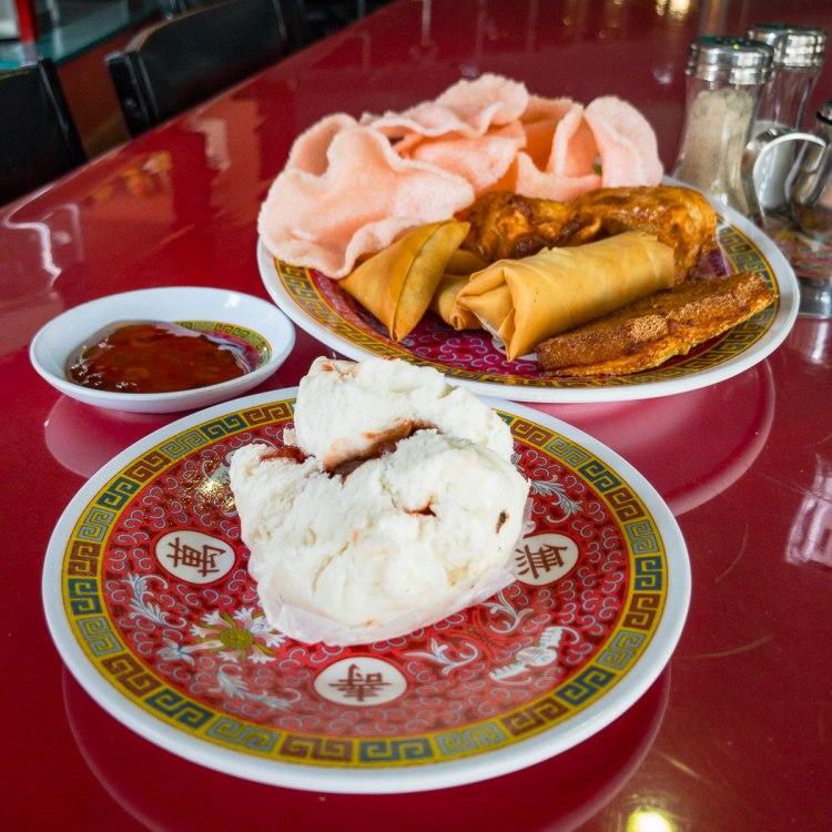 Chinese platter with plum sauce at Bendigo's Chinese dragon museum Gary Lum