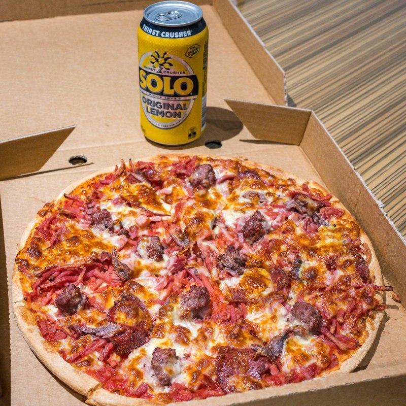 Meat lovers' pizza Gary Lum