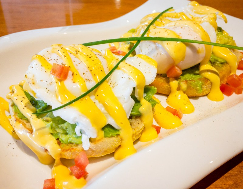 Poached eggs and avocado with Hollandaise sauce Gary Lum