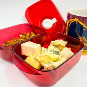 Cheeses and almonds at work Gary Lum