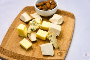 Three cheeses and almonds Gary Lum