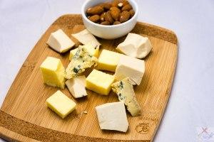 Three cheeses and almonds Gary Lum