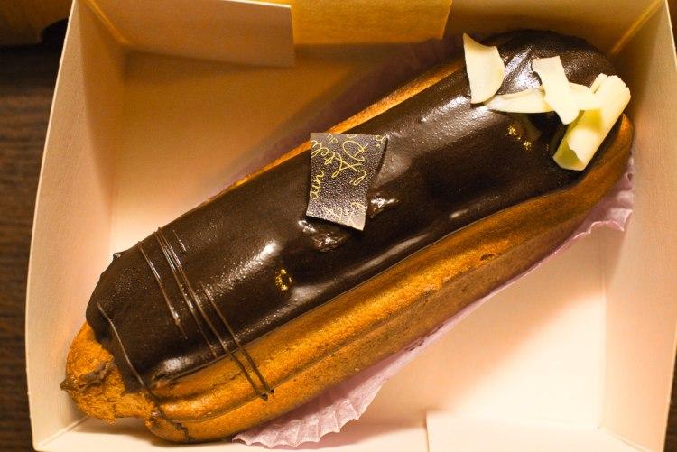 Chocolate eclair Lyon Gary Lum
