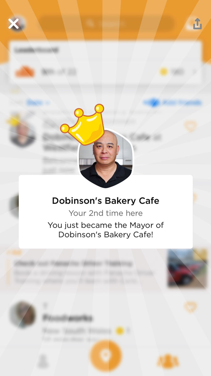 Dobinsons Bakery Cafe on Swarm First week back Gary Lum