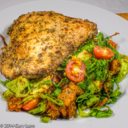 Tuesday 2014-01-21 18.05.36-1 AEDT Chicken thigh and salad