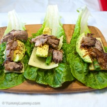 Saturday2014-02-01 17.17.21AEDTDinner was a little lamb, spring onion, avocado, Colby cheese and lettuce.
