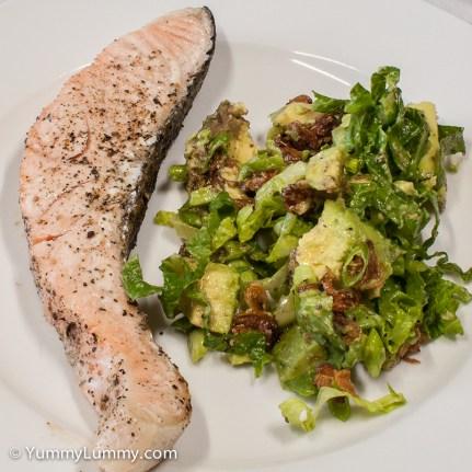 Monday2014-02-03 18.22.07AEDTSalmon and salad dinner.