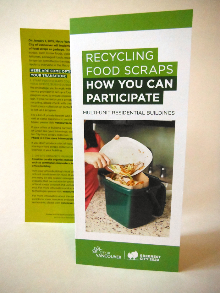 Food Scraps – Brochures and Rackcards