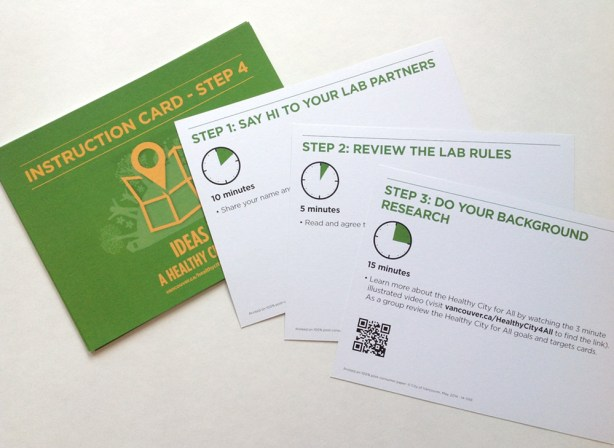 Ideas Lab Kit – Instruction Cards
