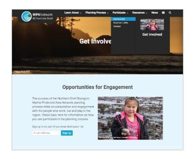 MPA Network Website | Navigation Feature