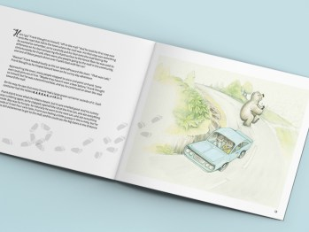Frank's Sunny Day Adventure | Book Layout