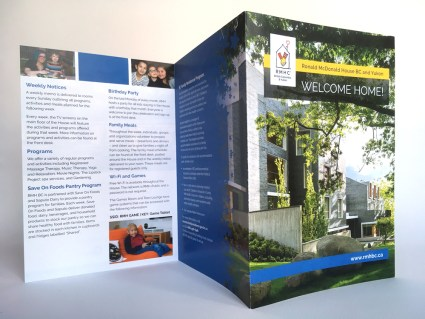 "Ronald McDonald Houe BC | ""Welcome Home"" Brochure 