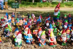 Gnomes at Floriade. Don't they look happy? | SONY ILCE-7S with FE 55mm F1.8 ZA at 55mm and f/4, 1/3200sec, ISO 400