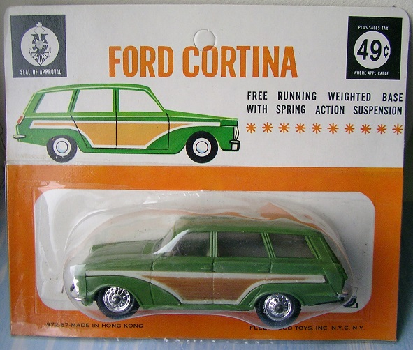 Hong Kong based Fleetwood Toys made plastic copies of British diecast models, mostly Corgi Toys.