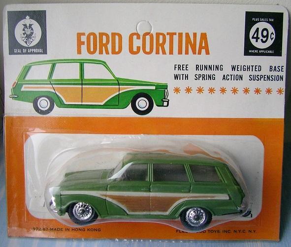 Hong Kong based Fleetwood Toys made plastic copies of British diecast models, mostly Corgi Toys.