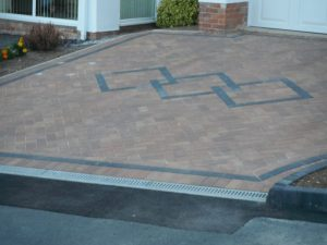 3 Diamond driveway in red and grey by Gary Simes in East Sussex