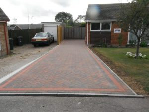Red and grey driveways by Gary Simes in East Sussex