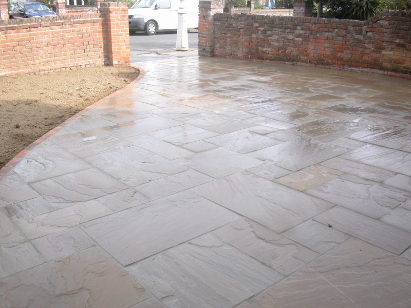 Indian Stone Driveway by Gary Simes in East Sussex