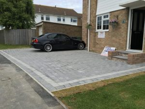 Marshals Argent driveways in light and dark grey granite by Gary Simes in East Sussex
