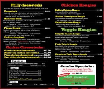 garyssteaks Food truck menu
