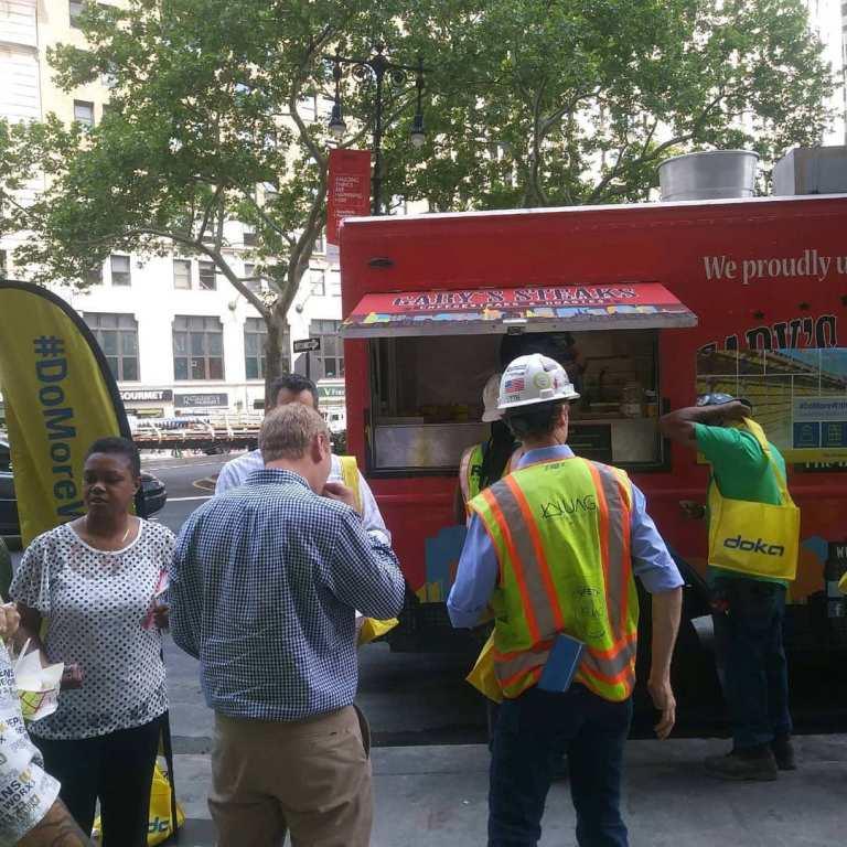 Garyssteaks food truck rental Doka Central Park Tower New York