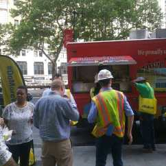 garyssteaks food truck catering for Doka group Construction company brooklyn