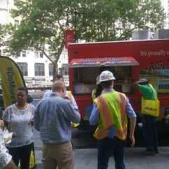 garyssteaks food truck catering for Doka group Construction company brooklyn