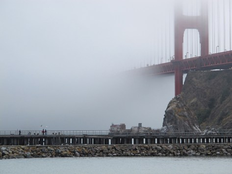 Fort Baker foggy view 1