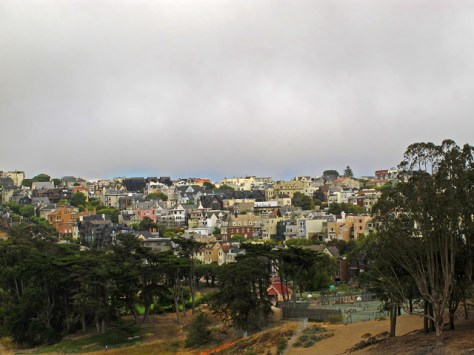 View of Presidio houses
