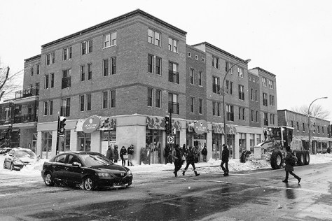 Rue Beaubien snow removal after a big snow storm