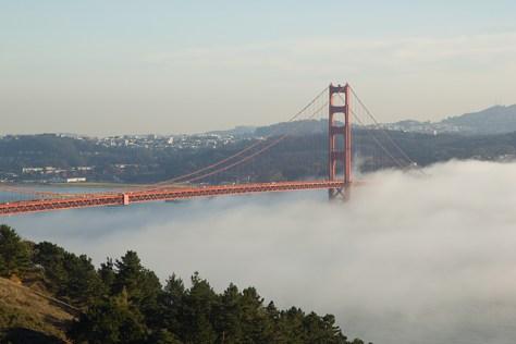 Winter smog over the Golden Gate